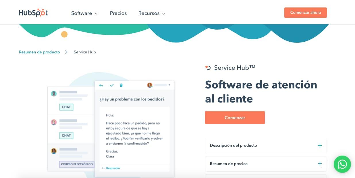 Mejor software de asistencia al cliente: Service Hub