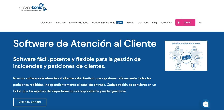 Software de asistencia al cliente: ServiceTonic
