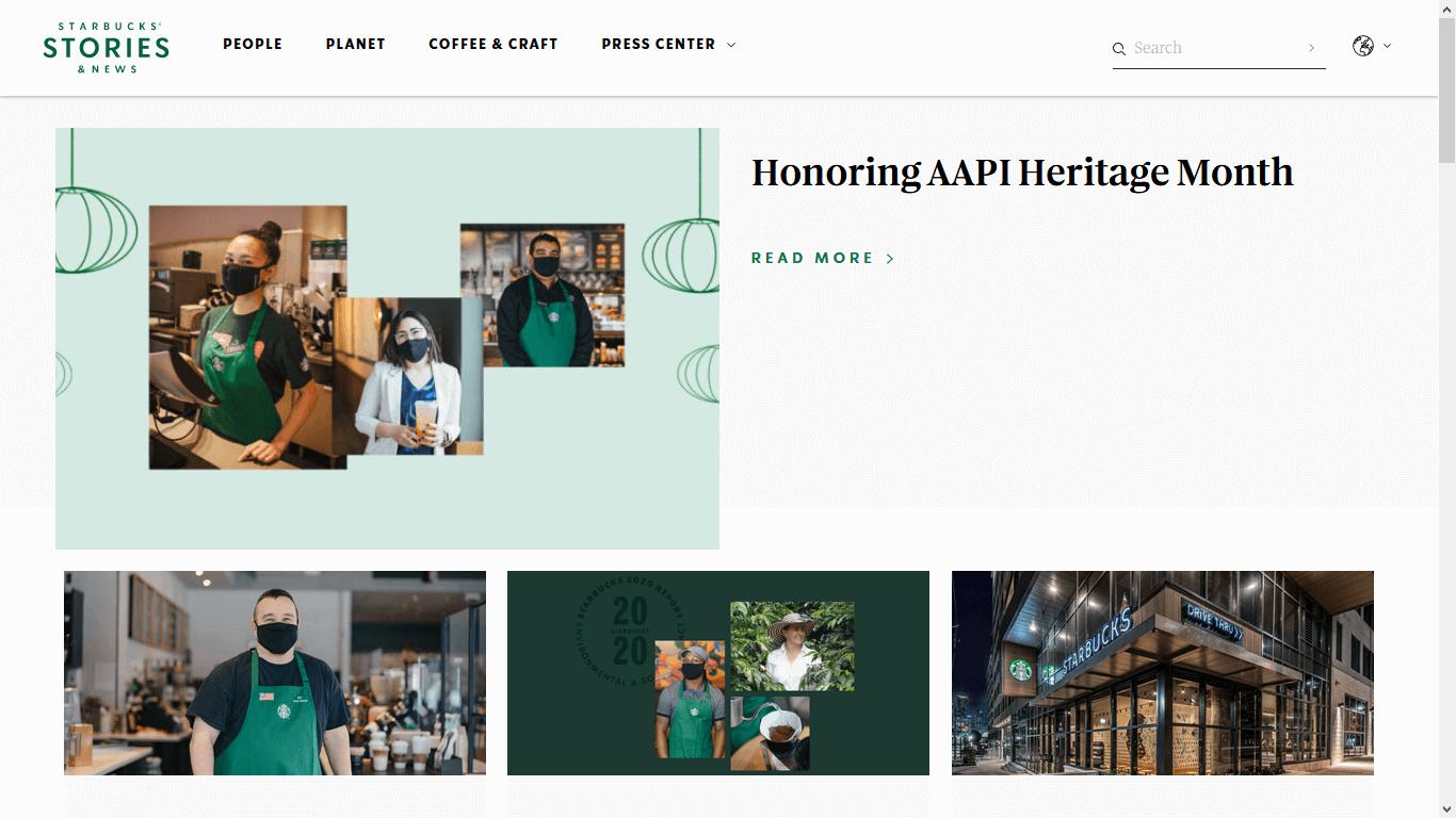 Starbucks Stories, ejemplo de storytelling