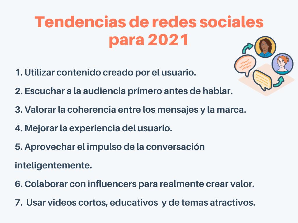 Tendencias de las redes sociales en 2021