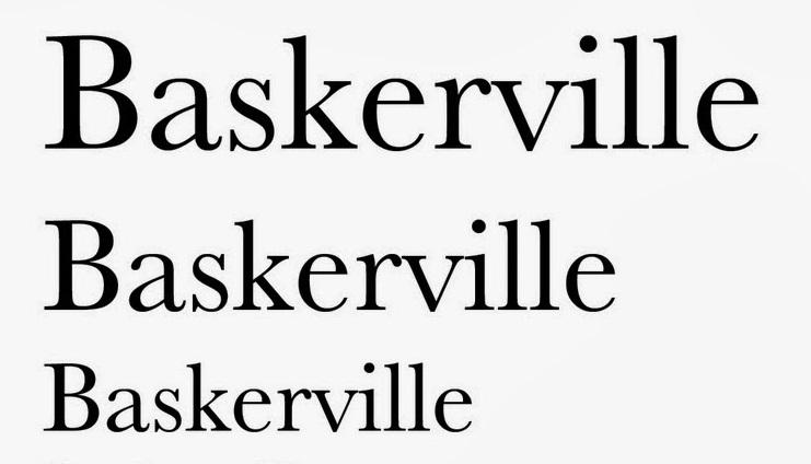 Tipografías para web: Baskerville