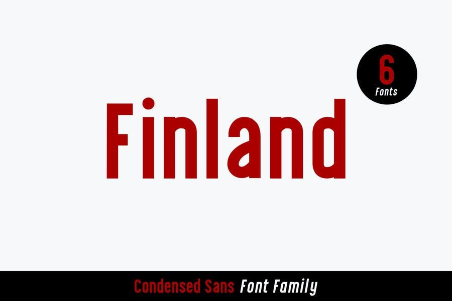 Tipografías para web: Finland