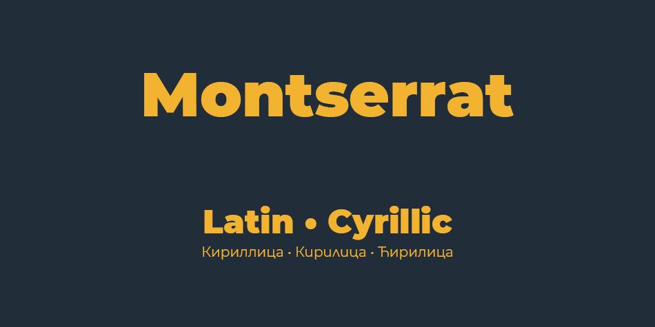 Tipografías para web: Montserrat