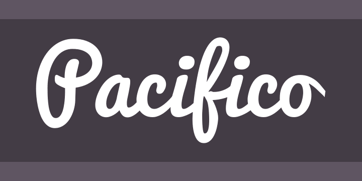 Tipografías para web: Pacifico