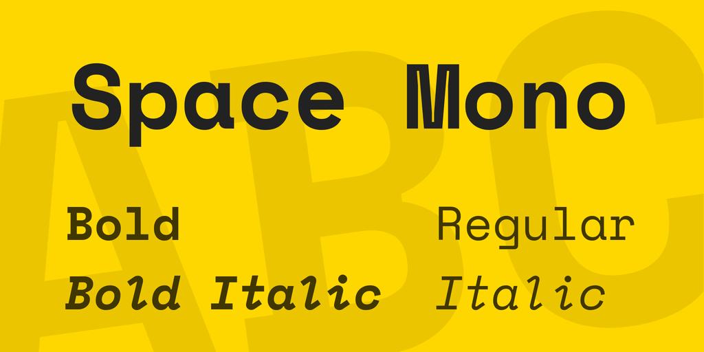 Tipografías para web: Space mono
