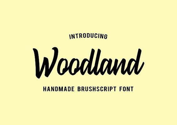 Tipografías para web: Woodland