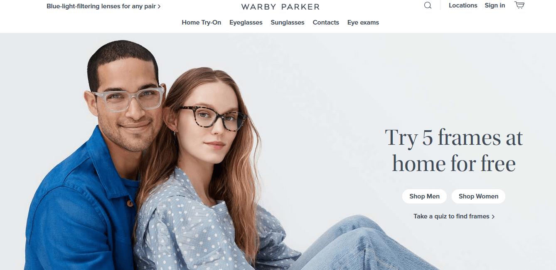 Ejemplo de storytellin:. Warby Parker