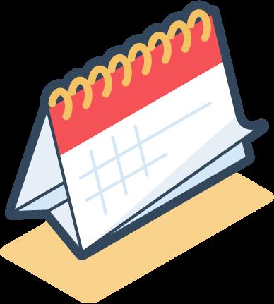 Digital icon of calendar
