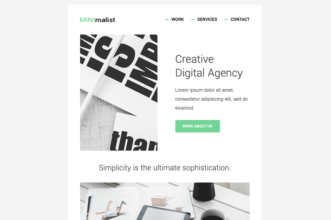 Free HTML email template by Mail Bakery