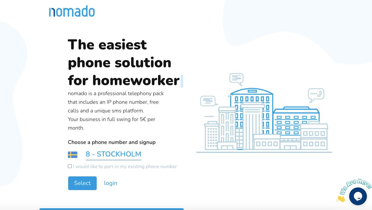 nomado website built with odoo website builder