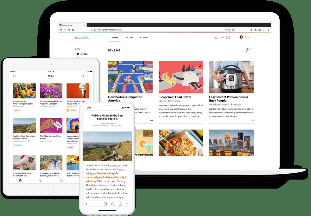 pocket news aggregator homepage example
