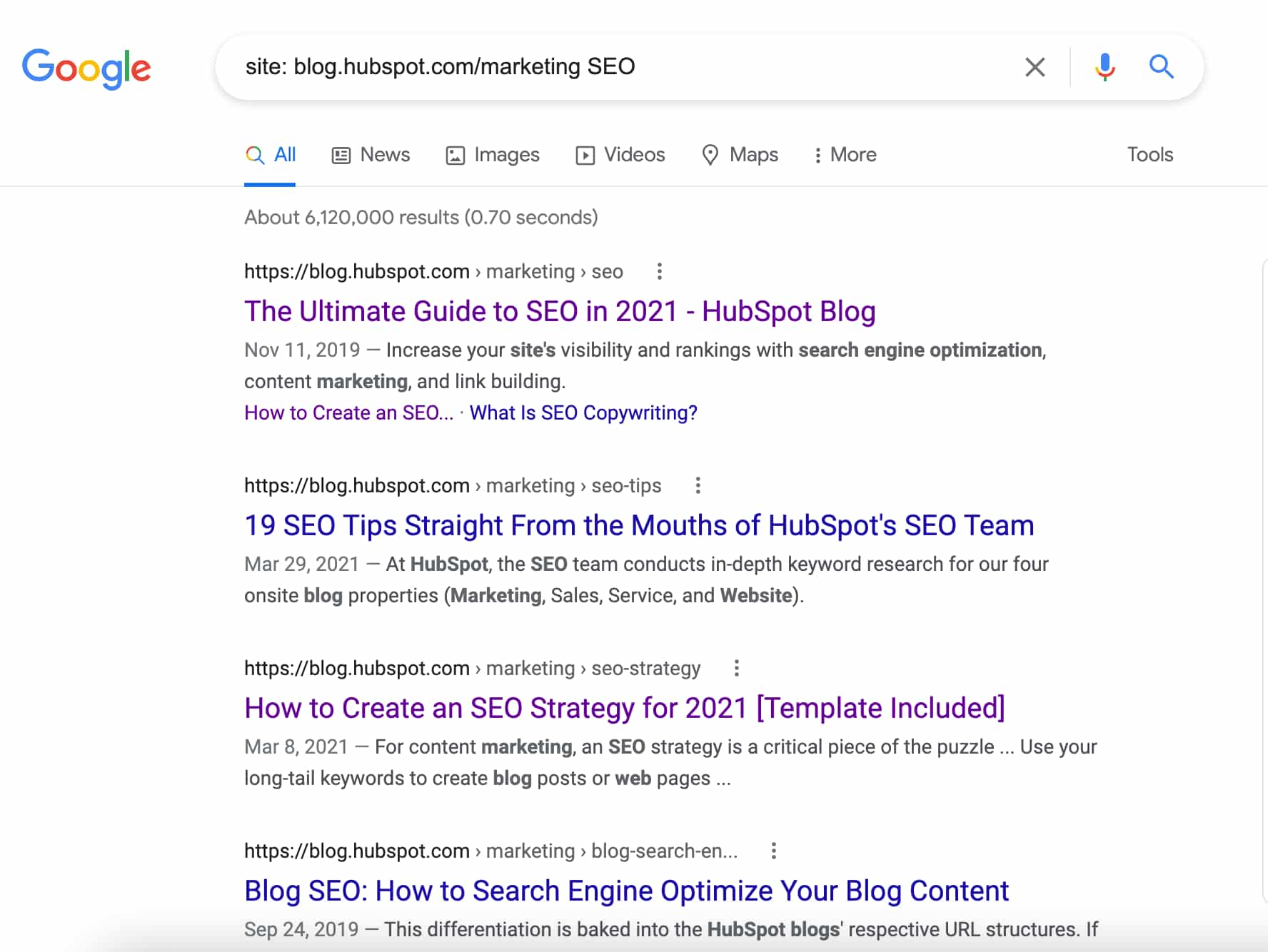 Site search step 2: type in the search bar: site:www.website.com/ search term