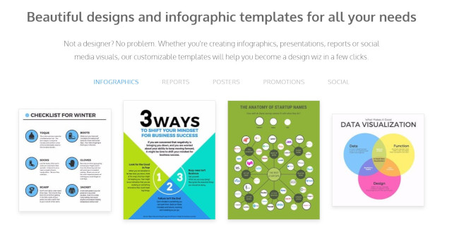 venngage online design tool for infographics