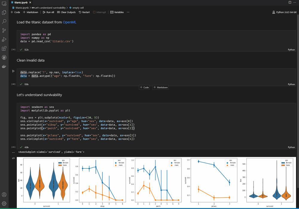 Visual Studio Code web design software