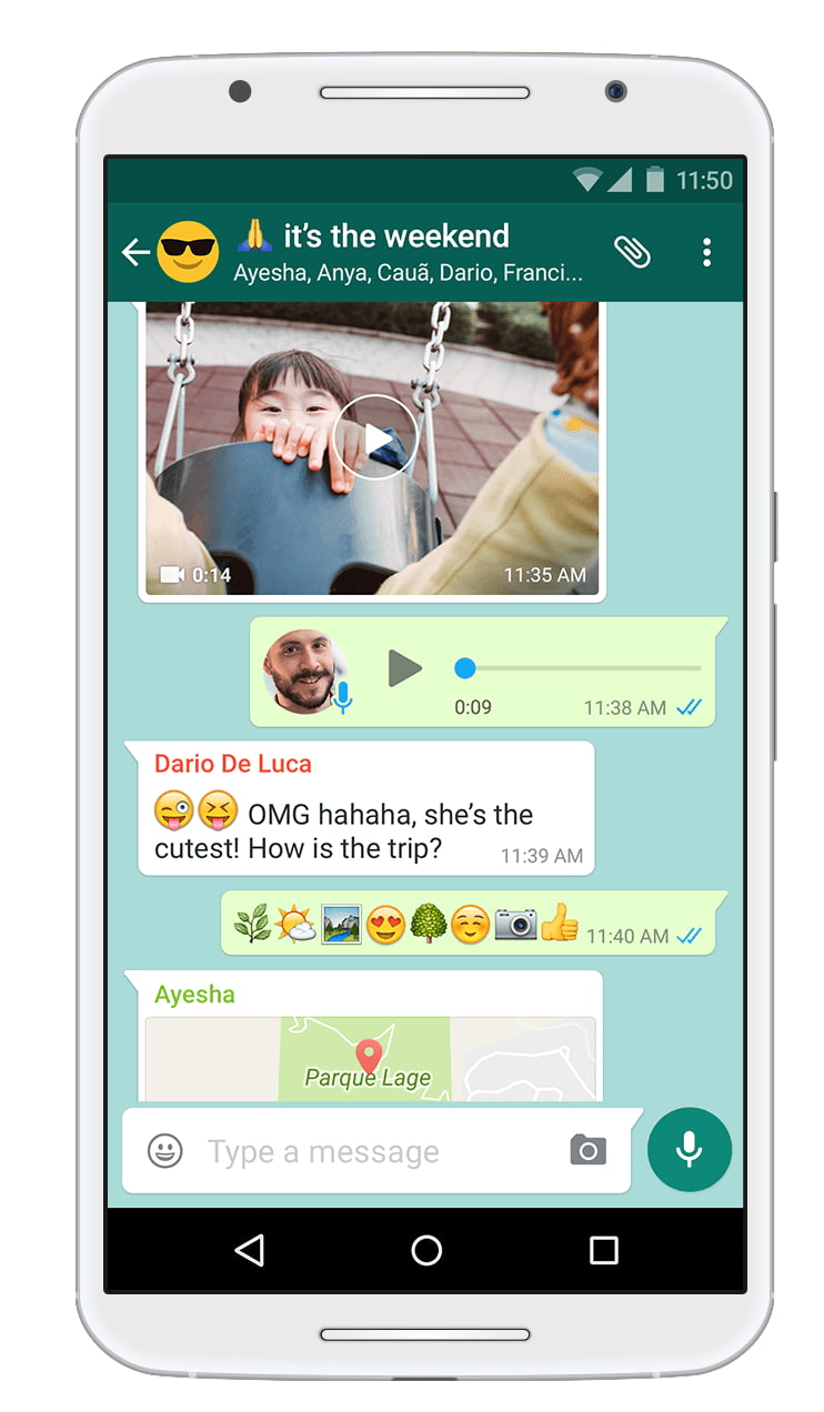 example of a standard wechat group chat text messaging thread